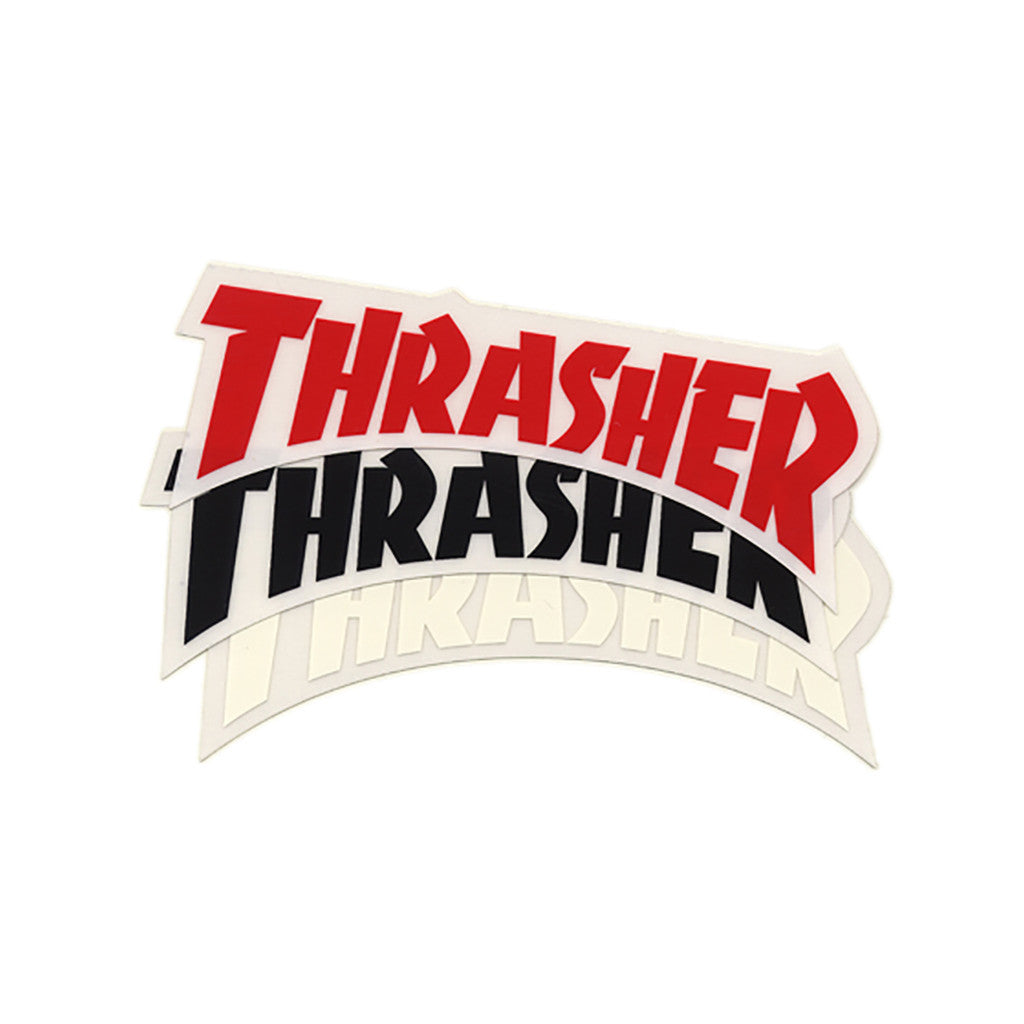<!--020110419029212-->Thrasher Magazine - 'Die Cut Logo (X 3)' [Sticker]