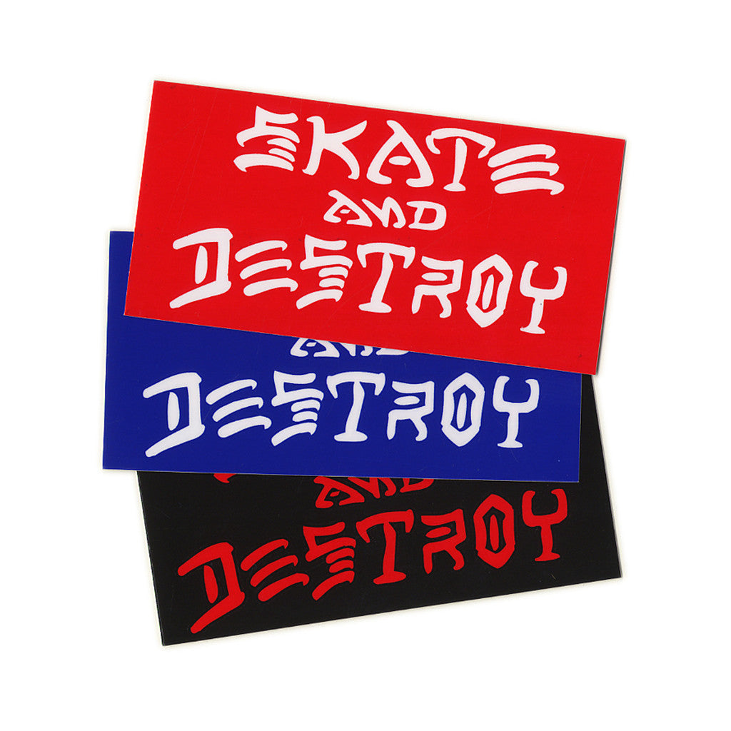<!--020110419029211-->Thrasher Magazine - 'SK8 And Destroy (X 3)' [Sticker]