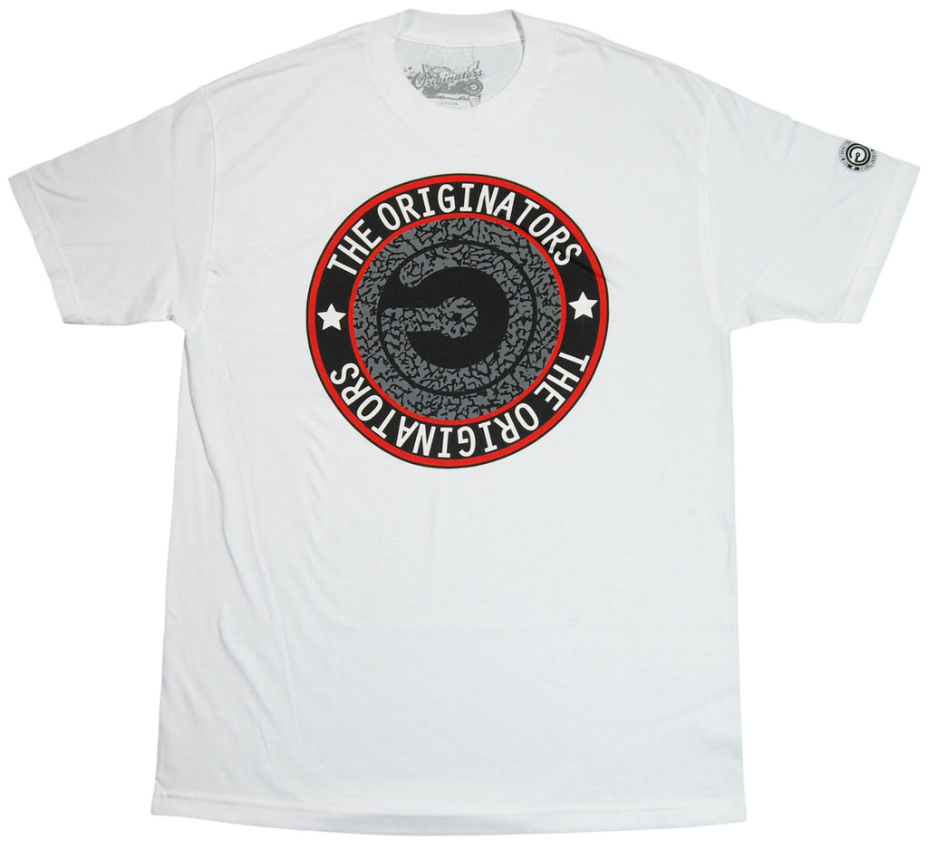 <!--2011110120-->Originators - 'Cement Logo' [(White) T-Shirt]