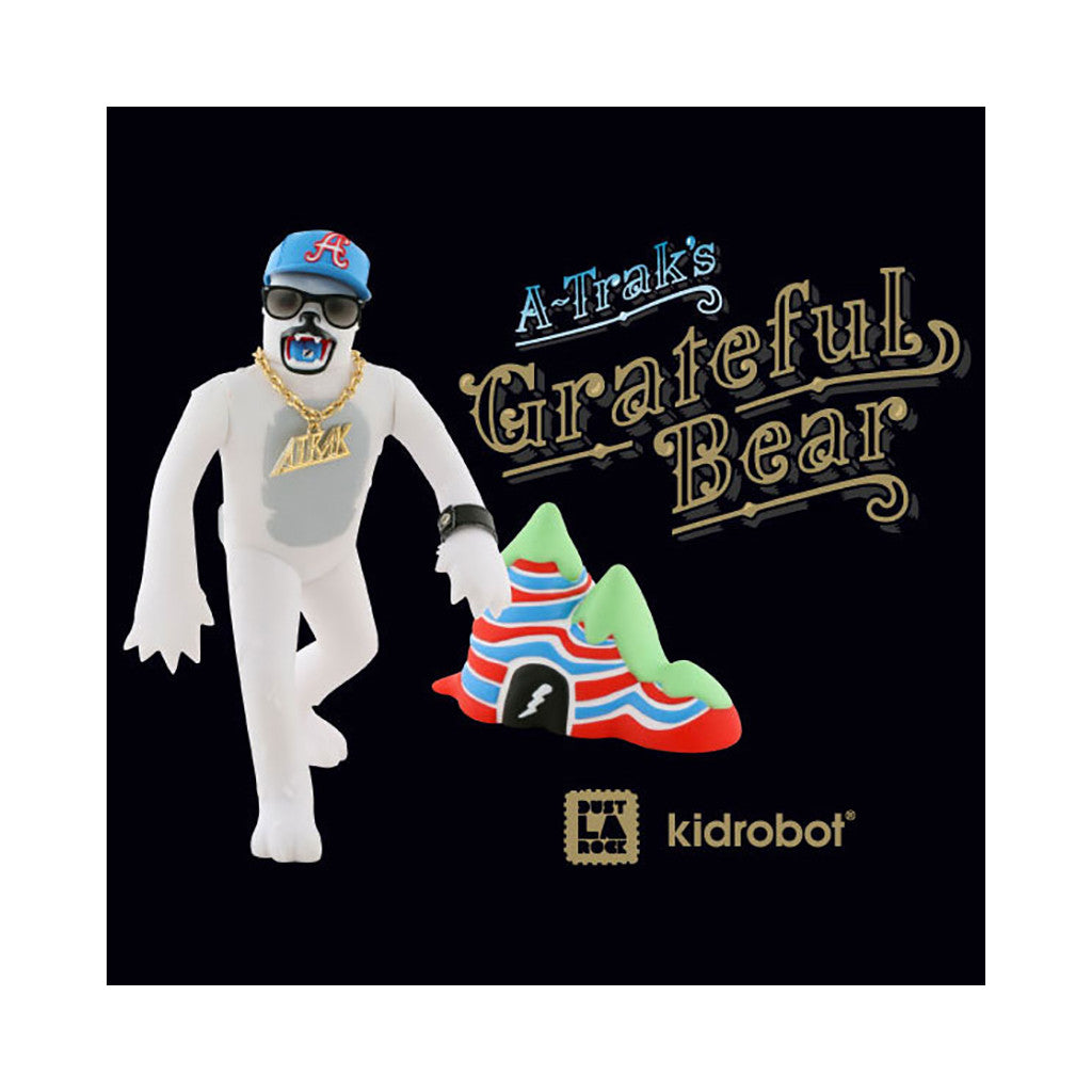 <!--020090707017610-->A-Trak x Dust La Rock x Kidrobot - 'Grateful Bear' [(White) Toy]