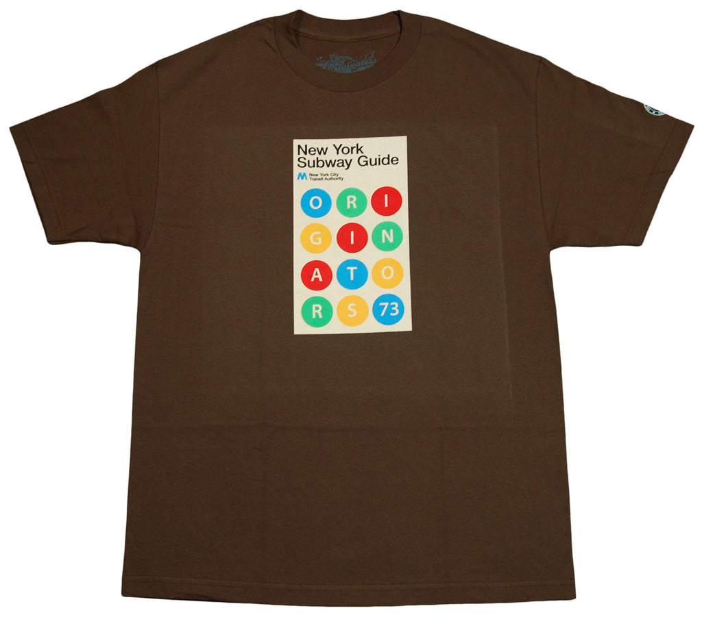 Originators - 'OG Subway Guide' [(Brown) T-Shirt]