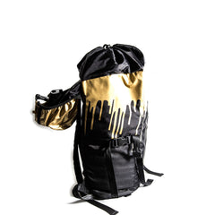 <!--020130108053136-->Sprayground - 'Gold Drips Top Loader' [(Black) Backpack]