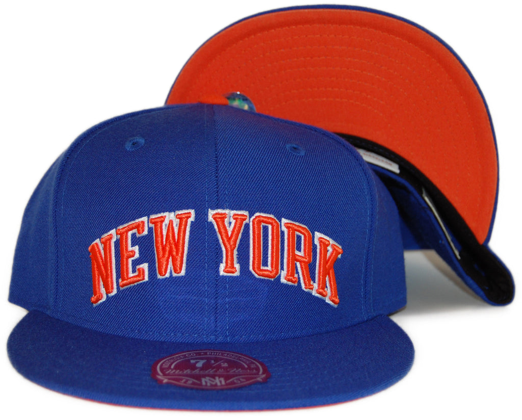 <!--2012022804-->Mitchell & Ness x NBA - 'New York Knicks: NBA HWC Alternate Logo' [(Blue) Fitted Hat]