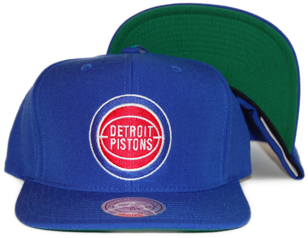 <!--020120228041950-->Mitchell & Ness x NBA - 'Detroit Pistons: NBA HWC Basic Logo' [(Blue) Snap Back Hat]