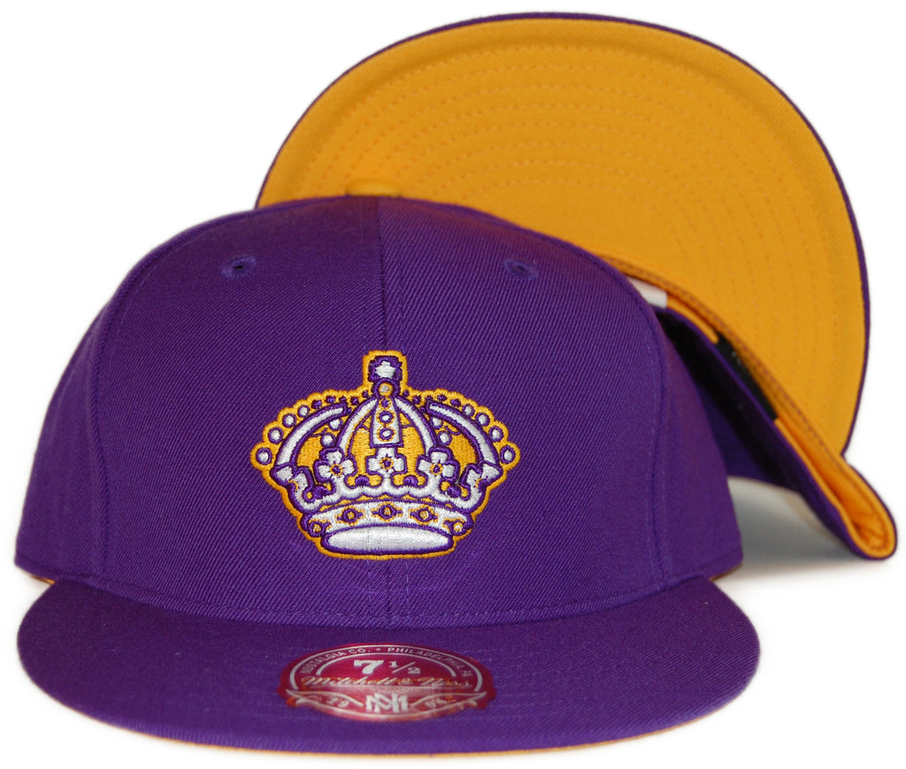 <!--2012022800-->Mitchell & Ness x NHL - 'Los Angeles Kings: NHL Vintage Alternate Logo' [(Purple) Fitted Hat]