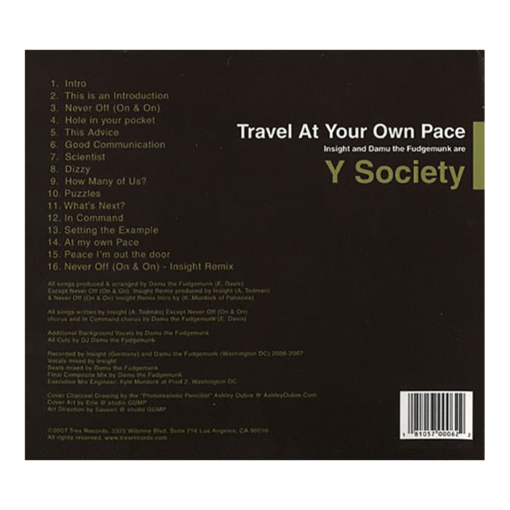 <!--020071009010621-->Y Society - 'Travel At Your Own Pace' [CD]