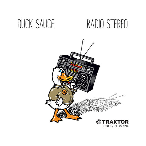 "[""Duck Sauce x Traktor Scratch - 'Radio Stereo' [(Orange) 12\"" Vinyl Control]""]"