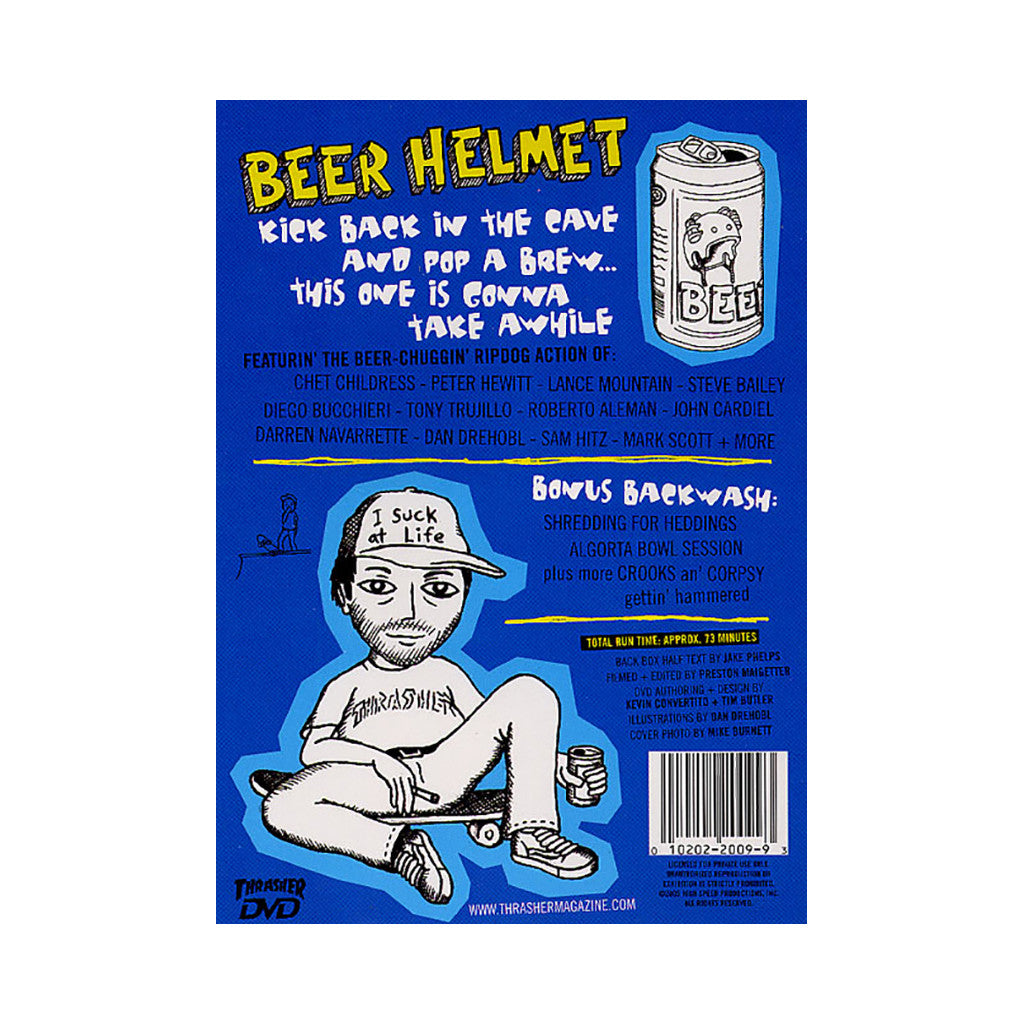 <!--020050101010268-->Thrasher Magazine - 'Beer Helmet' [DVD]