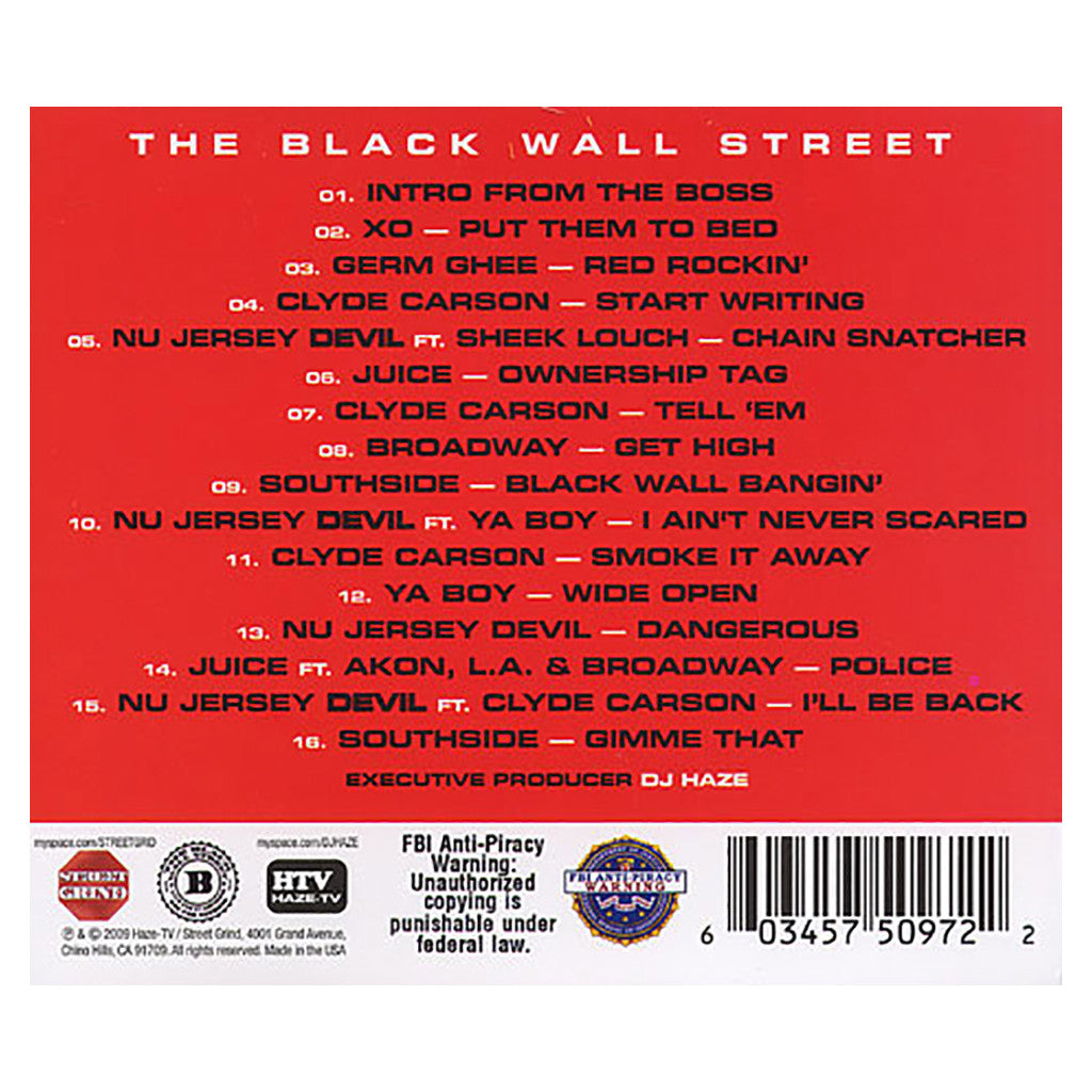 Black Wall Street - 'Wall Street Generals: Based On A True Story' [CD]