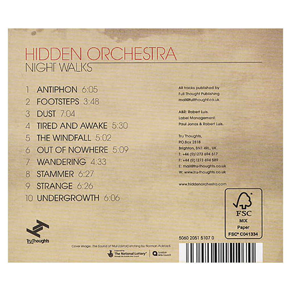 <!--120100921024694-->Hidden Orchestra - 'Night Walks' [CD]