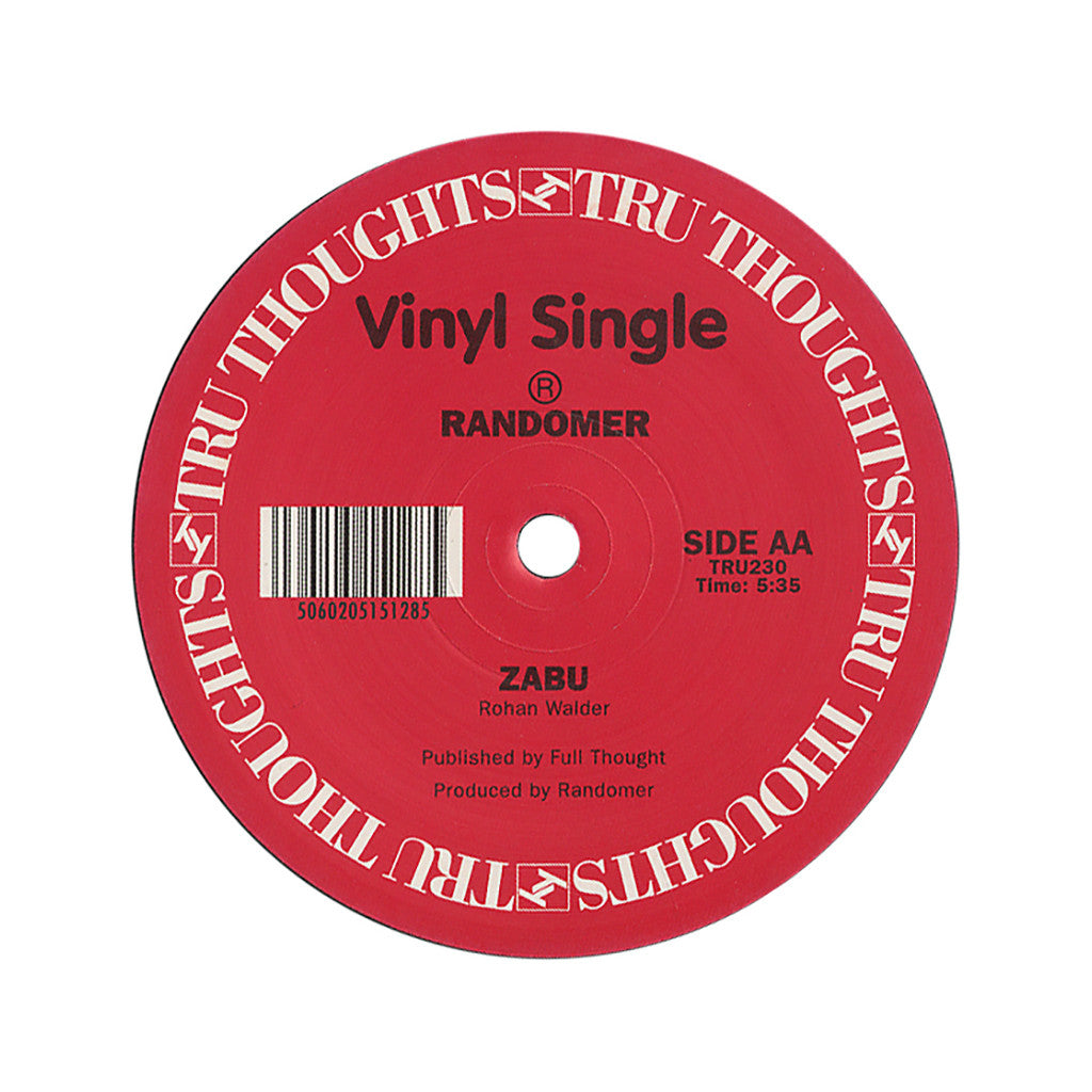 "<!--020101109025185-->Randomer - 'Be Electric/ Zabu' [(Black) 12"" Vinyl Single]"