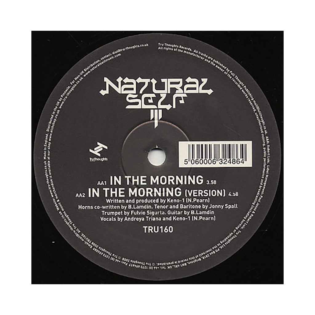 "<!--2008052724-->Natural Self - 'The Rising/ In The Morning' [(Black) 12"" Vinyl Single]"