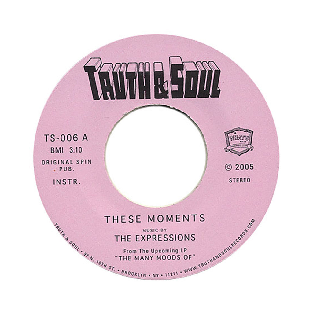 "<!--020051122010114-->The Expressions - 'These Moments/ Money I$ King' [(Black) 7"""" Vinyl Single]"