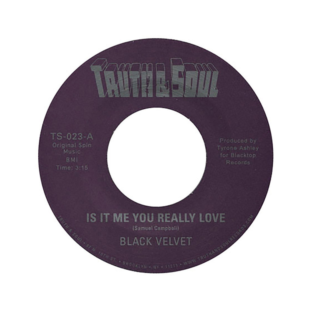 "<!--020060905008223-->Black Velvet - 'Is It Me You Really Love/ An Earthquake's Coming' [(Black) 12"" Vinyl Single]"