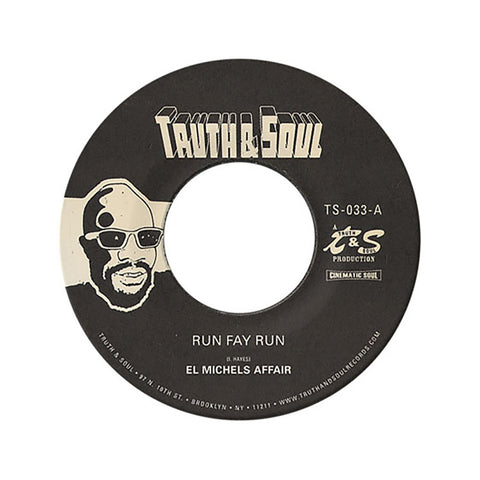 "[""El Michels Affair - 'Run Fay Run/ Hung Up On My Baby' [(Black) 7\"" Vinyl Single]""]"