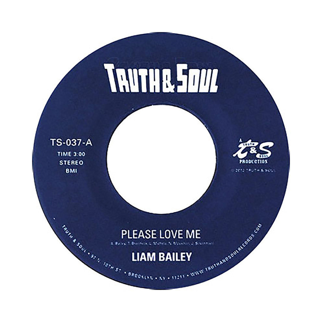 "<!--120120828048178-->Liam Bailey - 'Please Love Me/ On My Mind' [(Black) 7"" Vinyl Single]"