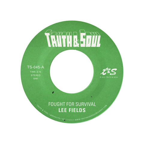 "[""Lee Fields - 'Fought For Survival/ Let's Talk It Over' [(Black) 7\"" Vinyl Single]""]"