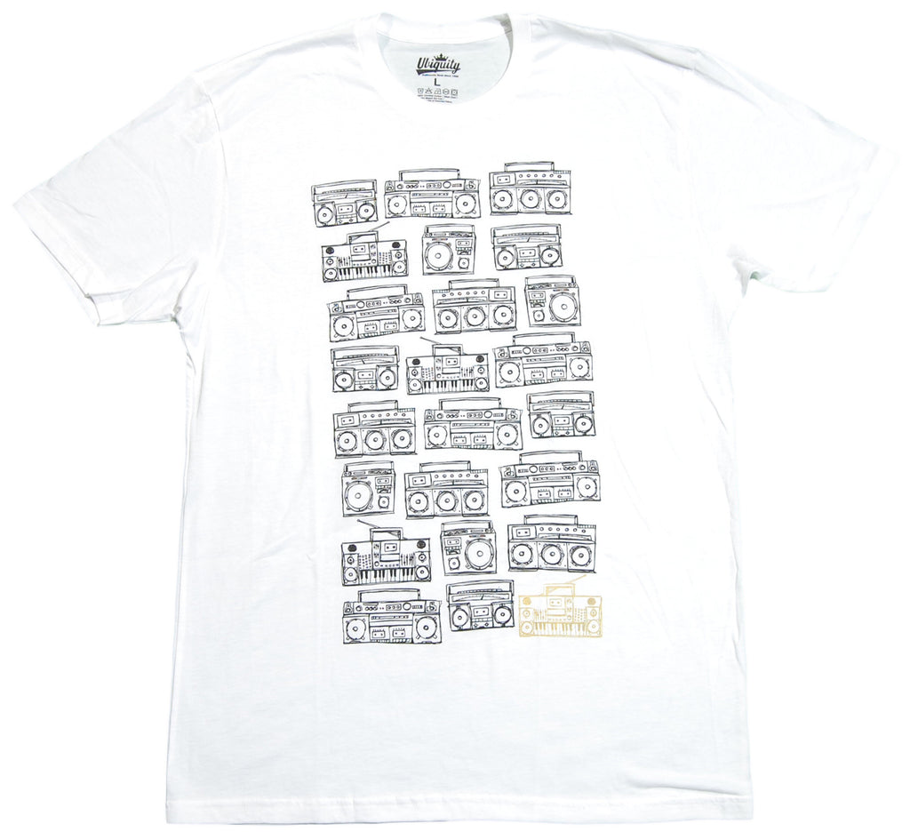 Ubiquity Recordings - 'Boom Box' [(White) T-Shirt]