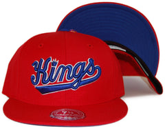 <!--2012022849-->Mitchell & Ness x NBA - 'Sacramento Kings: NBA HWC Basic Logo' [(Red) Fitted Hat]