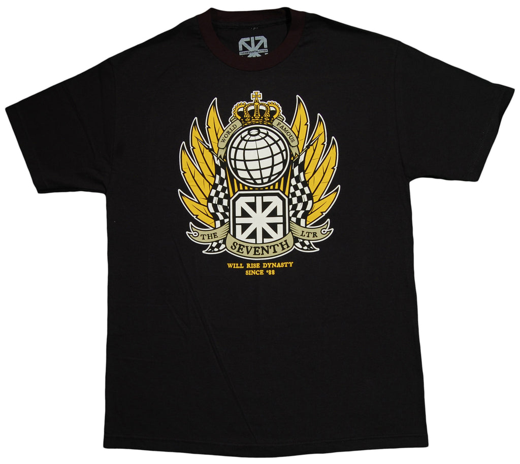<!--2013041643-->The Seventh Letter - 'Crest' [(Black) T-Shirt]