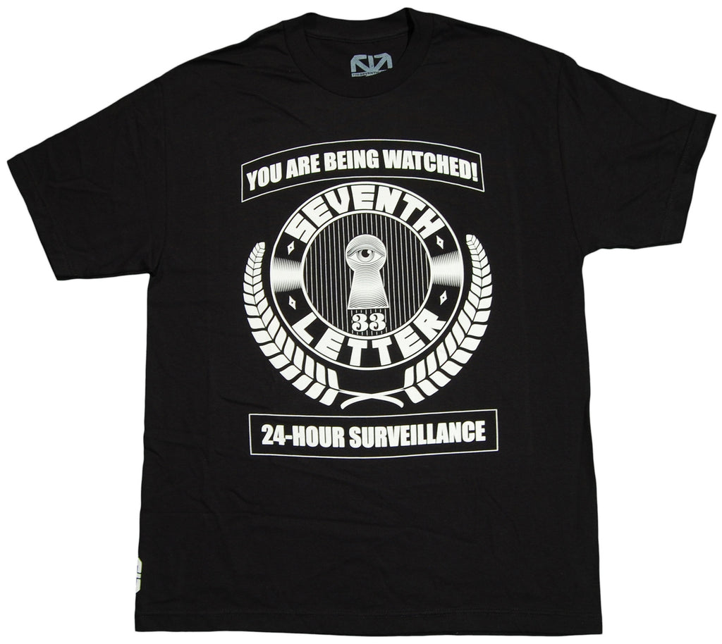 <!--2012091847-->The Seventh Letter - 'Surveillance' [(Black) T-Shirt]