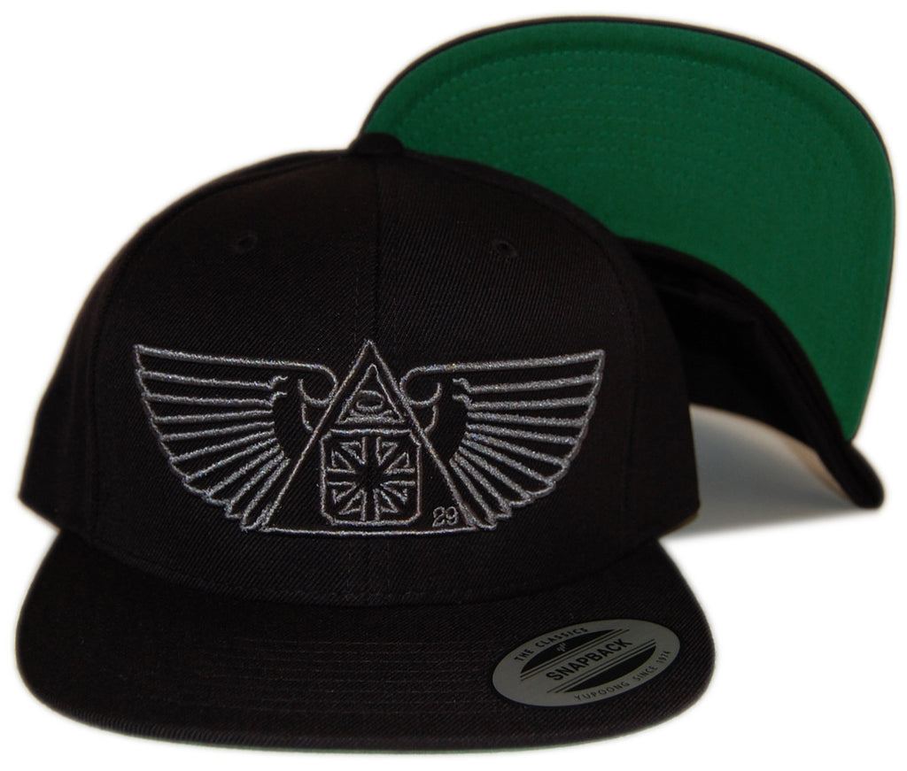 <!--020121002049850-->The Seventh Letter - 'Wings' [(Black) Snap Back Hat]
