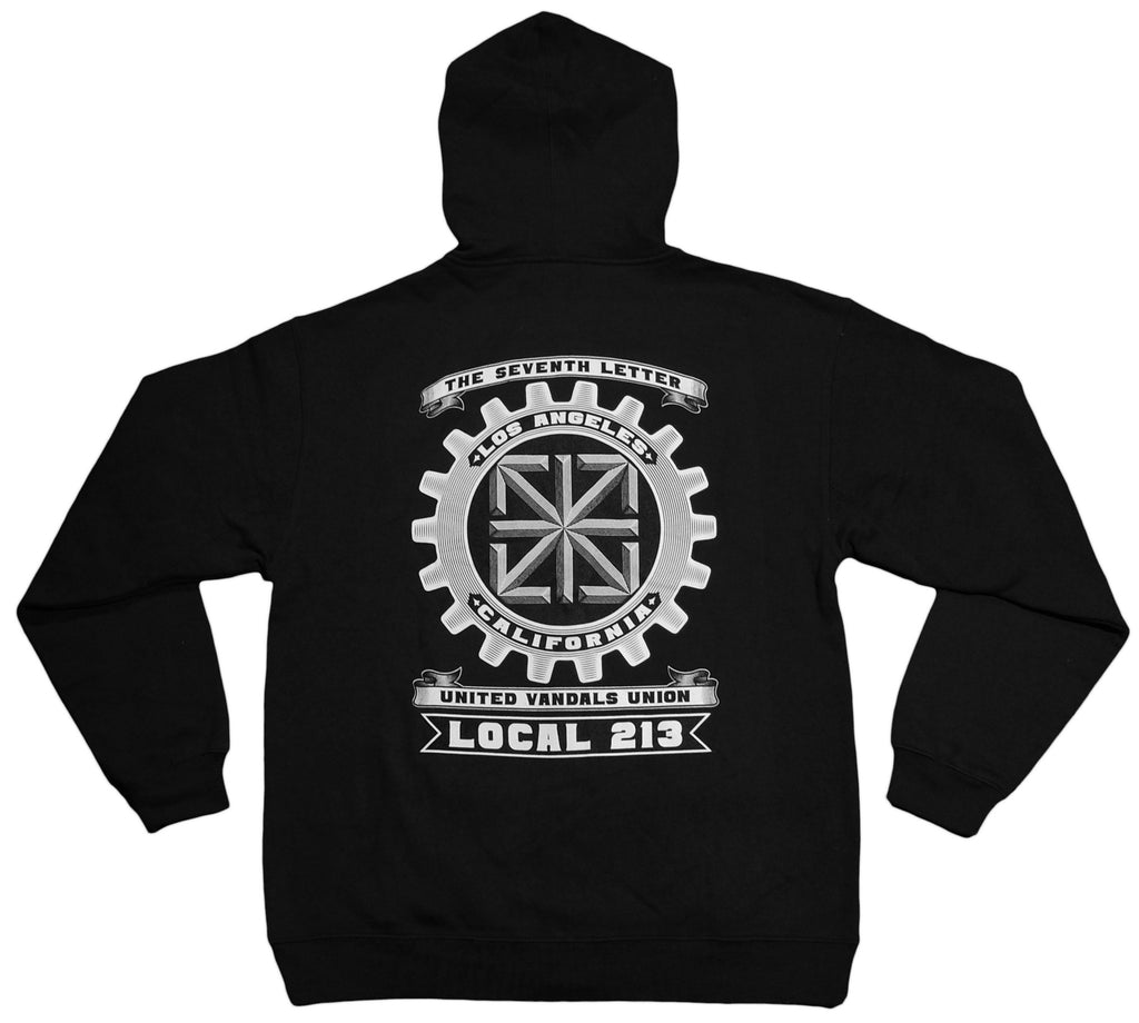 <!--2012100207-->The Seventh Letter - 'United Vandals Union' [(Black) Hooded Sweatshirt]