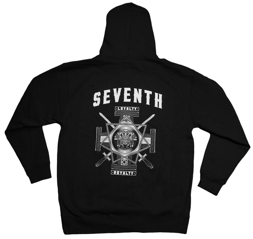 <!--2012100241-->The Seventh Letter - 'Owl' [(Black) Hooded Sweatshirt]