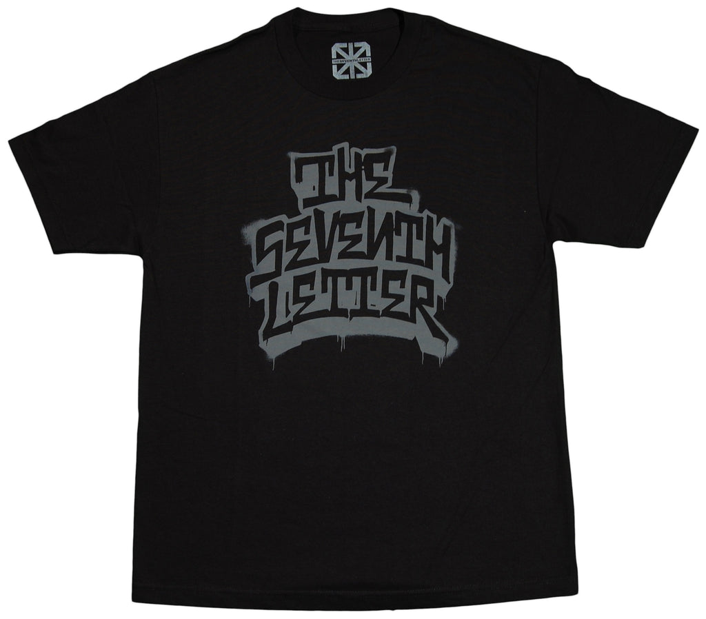 <!--2012022832-->The Seventh Letter - 'Stacked' [(Black) T-Shirt]