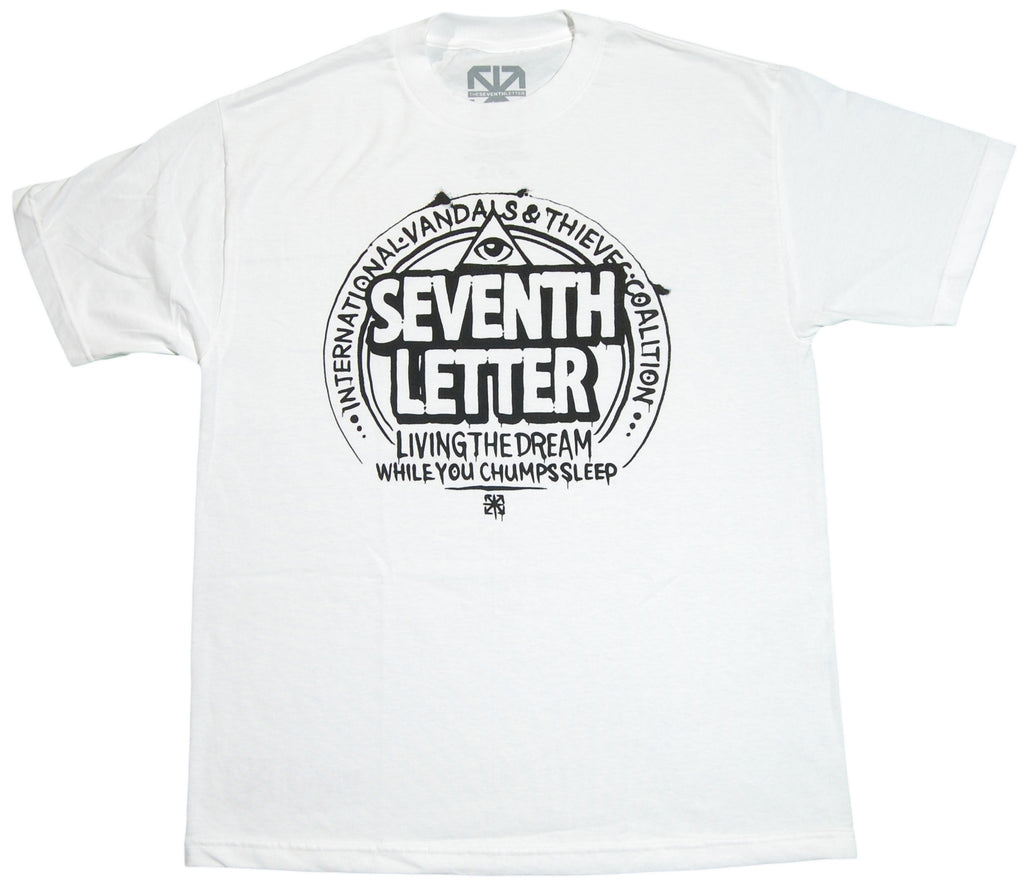 <!--2012022844-->The Seventh Letter - 'Living The Dream' [(White) T-Shirt]