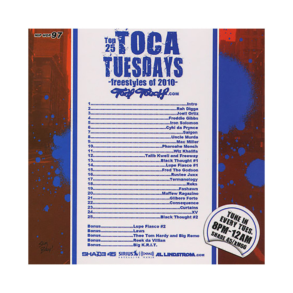 Tony Touch - 'Hip Hop # 97: Top 25 Toca Tuesdays - Freestyles Of 2010' [CD]