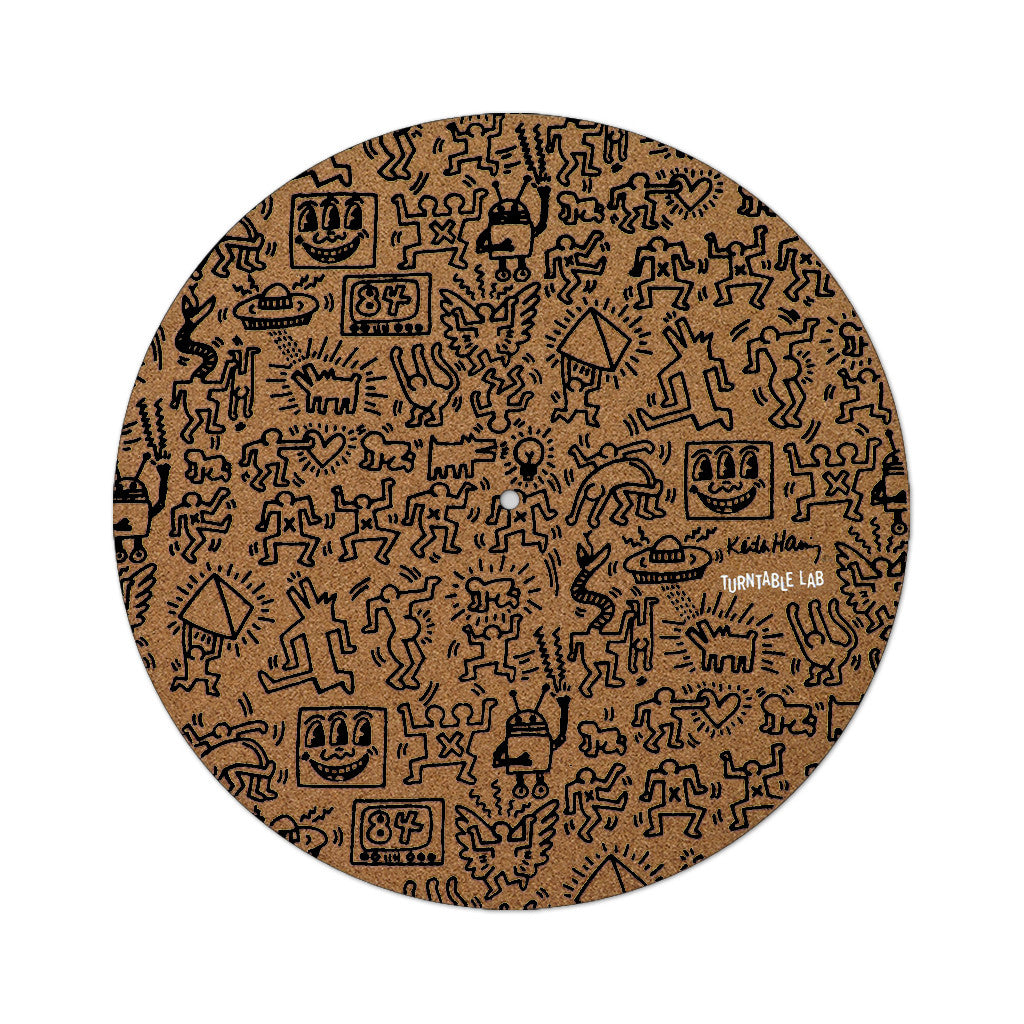 TTL x Keith Haring - 'Keith Haring Cork Slipmat (Black Print)' [(Light Brown) Slipmat]