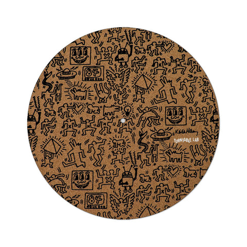 "[""TTL x Keith Haring - 'Keith Haring Cork Slipmat (Black Print)' [(Light Brown) Slipmat]""]"