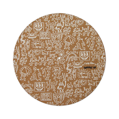 "[""TTL x Keith Haring - 'Keith Haring Cork Slipmat (White Print)' [(Light Brown) Slipmat]""]"