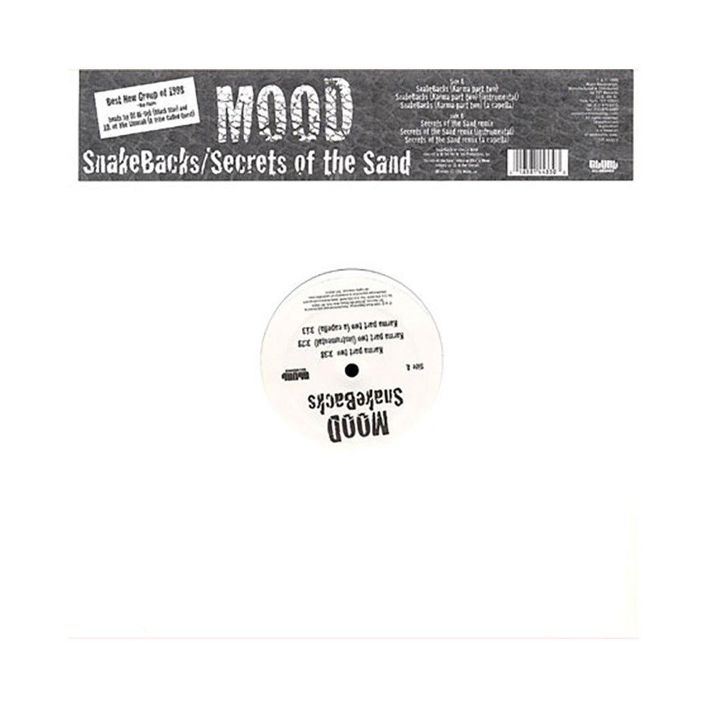 "Mood - 'Snakebacks (Karma Part Two)/ Secrets Of The Sand (Remix)' [(Black) 12"" Vinyl Single]"