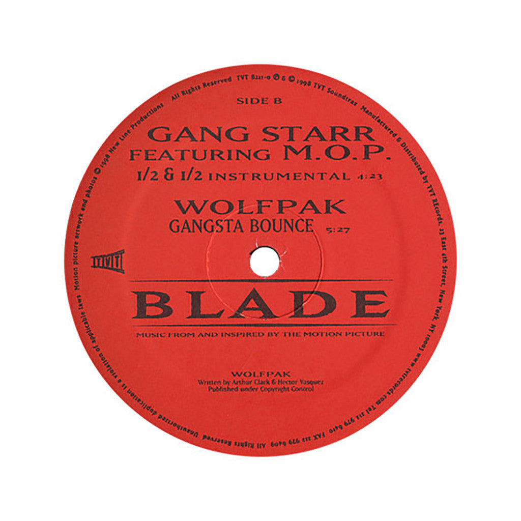 "Gang Starr b/w Wolfpak - '1/2 & 1/2 b/w Gangsta Bounce' [(Black) 12"" Vinyl Single]"