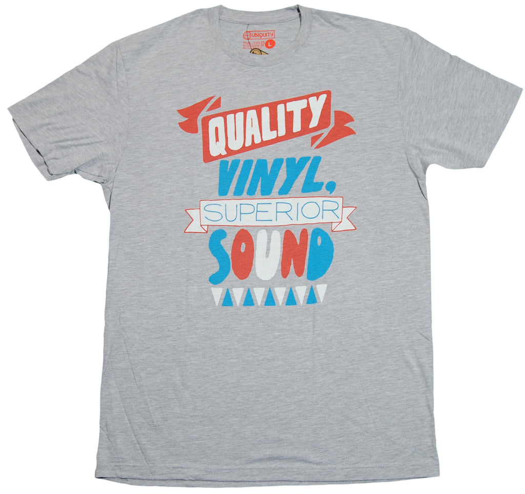 <!--2011101804-->Ubiquity Recordings - 'Quality Vinyl' [(Gray) T-Shirt]