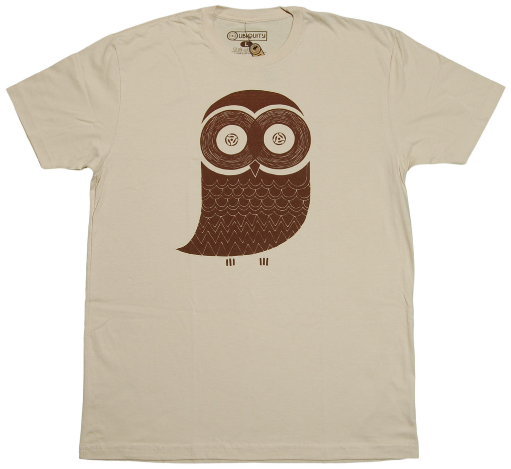 Ubiquity Recordings - 'VinOwl' [(Light Brown) T-Shirt]
