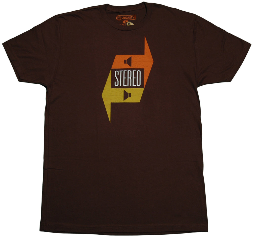 <!--2011101843-->Ubiquity Recordings - 'Stereo Hi-Fi' [(Brown) T-Shirt]