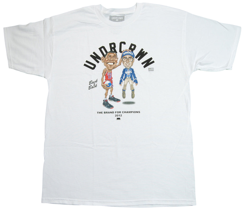 <!--2012111344-->Undrcrwn - 'Gotta Be Barack' [(White) T-Shirt]