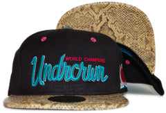 <!--020120110039786-->Undrcrwn - 'Clyde - Snake' [(Black) Snap Back Hat]