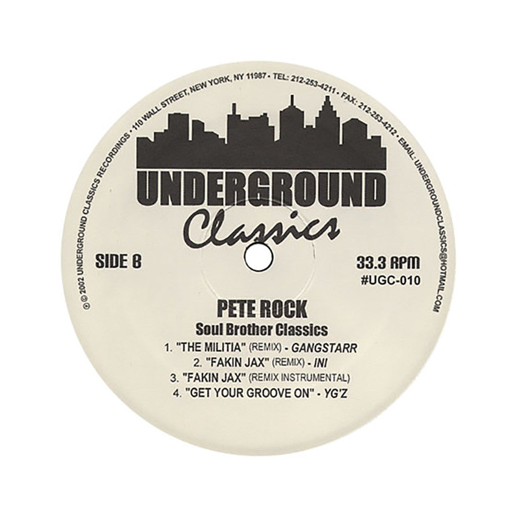 "<!--020020312010019-->Pete Rock - 'Soul Brother Classics' [(Black) 12"""" Vinyl Single]"