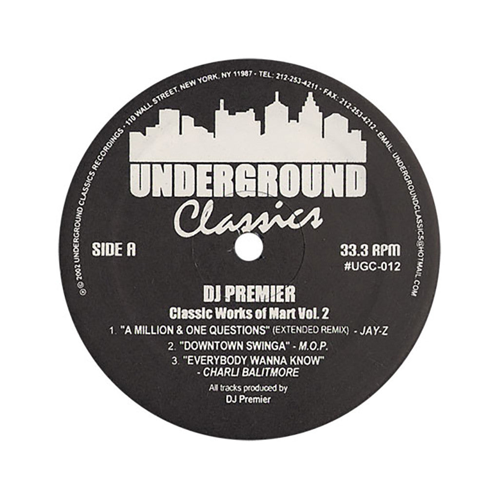 "<!--2002073021-->DJ Premier - 'Classic Works Of Mart Vol. 2' [(Black) 12"" Vinyl Single]"