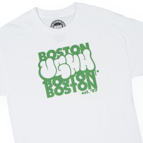 "[""UGHH - 'T-Shirt UGHH Graffiti Logo Boston' [(White) T-Shirt]""]"
