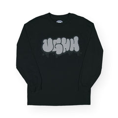 UGHH - 'Long Sleeve Shirt UGHH Pinstripe Graffiti Logo' [(Black) Long Sleeve Shirt]
