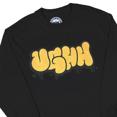 "[""UGHH - 'Long Sleeve Shirt UGHH Graffiti Logo' [(Black) Long Sleeve Shirt]""]"