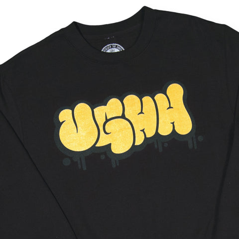 UGHH - 'Bubble Logo' [(Black) Crewneck Sweatshirt]