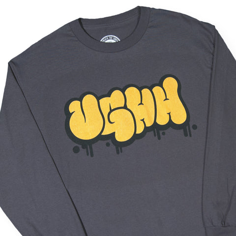 "[""UGHH - 'Long Sleeve Shirt UGHH Graffiti Logo' [(Dark Gray) Long Sleeve Shirt]""]"