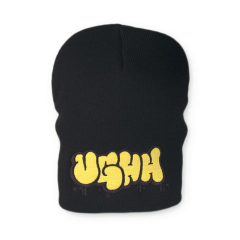 "[""UGHH - 'Beanie Hat UGHH Graffiti Logo' [(Black) Winter Beanie Hat]""]"