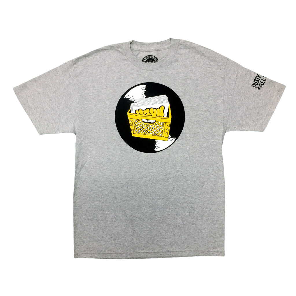 UGHH - 'T-Shirt Records And Milk Crate' [(Gray) T-Shirt]
